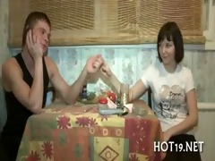 cute hotty receives banged
