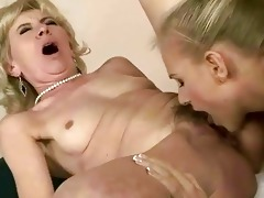 juvenile beauty licking old slit