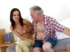 old fellow seducing youthful cutie