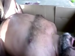 youthful blonde floozy sucks old man\&#795 s