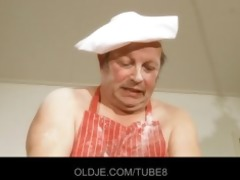 old overweight chef drilled by hawt golden-haired