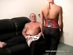 trillian receives on her knees to please uncle