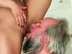 girl punishing and fucking a grand-dad