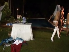 1 father 5 bride 6 thong on maids