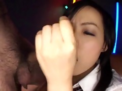 little japanese schoolgirl likes sperm