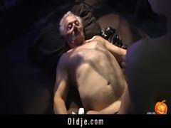 cheerful sex-alloween night for grandpapa