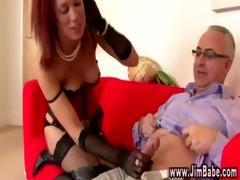 posh redhead in underware acquires sexy