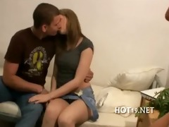 hotty team-fucked previous to her bf