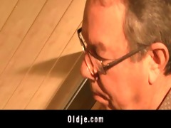 old man helps a masturbating teen to finish