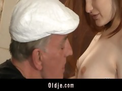 slutty oldmen bangs hard youthful sluts in holiday