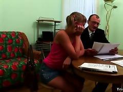 perv teacher sticks his schlong into young babes