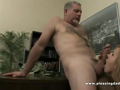 sexy doxy fucks old boss to secure the job