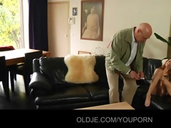 lustful young honey bonks her old spouse