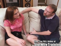 excited wife throat fuck lesson