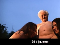 older man gustavo bangs with wicked women