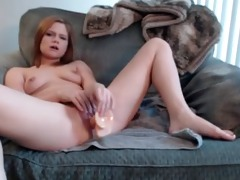 nasty hard sex-toy fuck in my father in laws chair