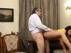 teacher is getting juicy blow job stimulation