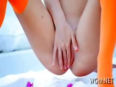girl posing & masturbating