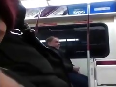 reverse perspective masturbating on subway.