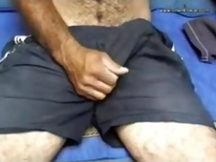 this handsome unshaved large cock dad is fuckin