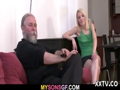 guy finds his lady with his daddy