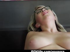 povlife - sunny hart receives a sticky facial