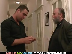 hopeless spouse pays a fellow to fuck his wife