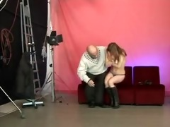 cute legal age teenager blows curly old stud
