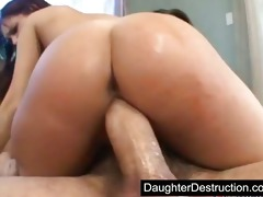 latin chick daughter screwed hard