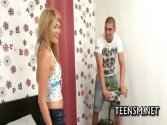 legal age teenager cutie gets tough experience