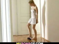 her bf away and she is seduces his hung daddy