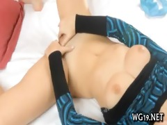 beauty plays with fake penis